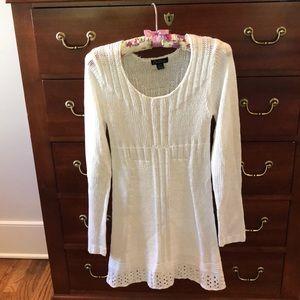 White knit dress.